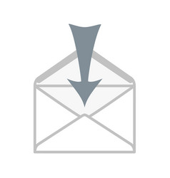 the arrow points to the envelope vector image