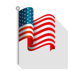 usa flag design vector image vector image