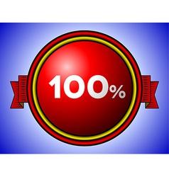 Vintage 100 sign vector image