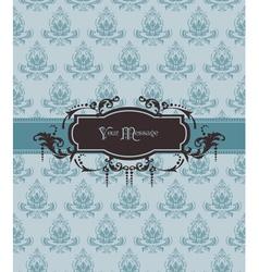 vintage ornamental card vector image vector image
