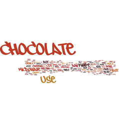 You need to chop the chocolate before you melt it vector