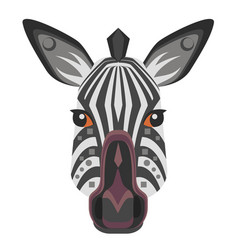 zebra head logo decorative emblem vector image vector image