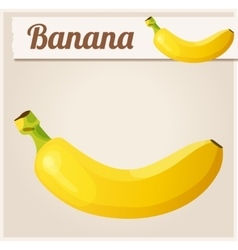 Banana detailed icon vector