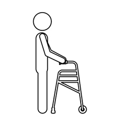 Isolated crutch for disabled people design vector