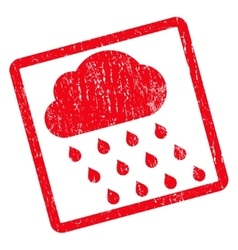 Rain cloud icon rubber stamp vector