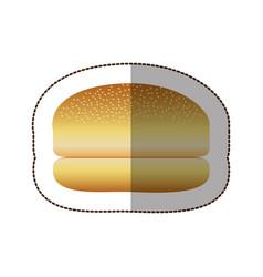 colorful hamburger bread icon vector image