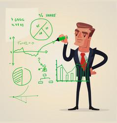 businessman make presentation vector image