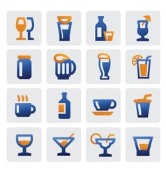 Beverage icons vector
