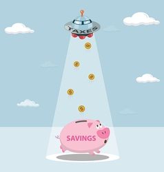 Ufo tax savings are drawn from my savings vector
