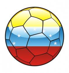 Venezuela flag on soccer ball vector