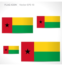 Guinea-bissau flag template vector