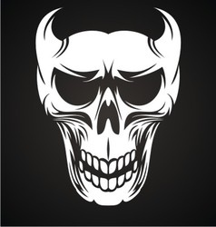 White devil skulls vector