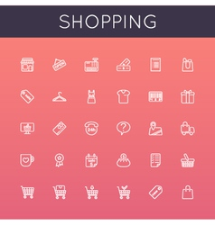 Shopping line icons vector