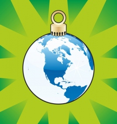 Christmas bulb world globe vector