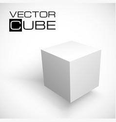 3D cube isolated on white background vector image
