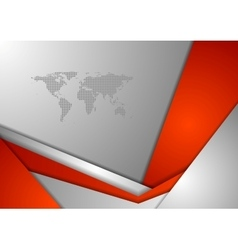 Red grey tech corporate background vector image