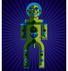 Spiritual totem meditation theme drawing A vector image