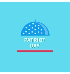 Cloch patriot day flat design vector
