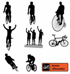Bike silhouettes vector