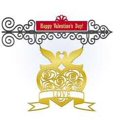 Valentines day sign vector