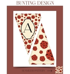 Bunting design - eat me cookie from wonderland vector