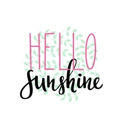 Hello sunshine summer typography vector