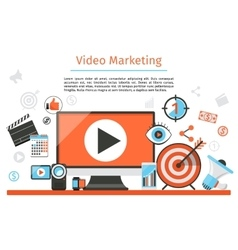 Video marketing Abstract concept vector image