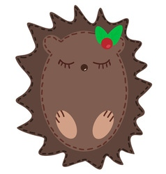 Cute cartoon hedgehog vector