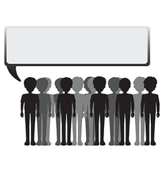 An empty signage with a group of people vector