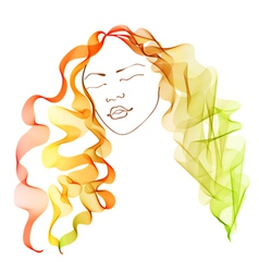 Bright hair vector image vector image