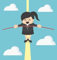 Business woman balancing vector