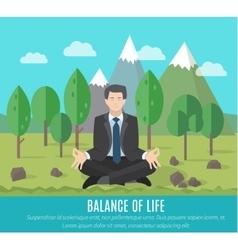 Businessman meditating vector