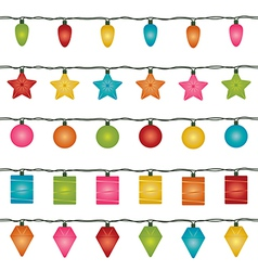 christmas lights vector image