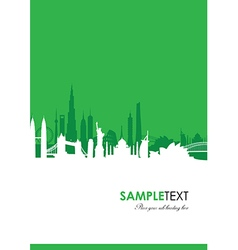 Cityscape green vector