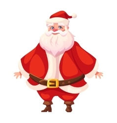 Colorful flat santa standing and smiling vector