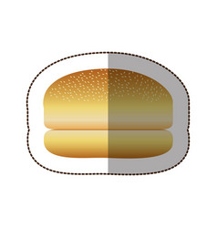 colorful hamburger bread icon vector image