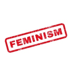 Feminism text rubber stamp vector