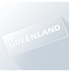 Greenland unique button vector