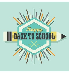 Happy back to school colorful sun burst icon vector