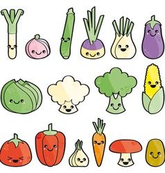 Kawaii legumes vector