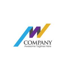 Letter aw logo vector