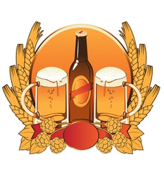 malt beer vector image