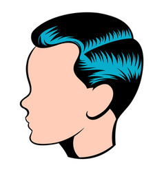 Mens hairstyle icon icon cartoon vector