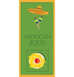 Mexican food restaurant vector image
