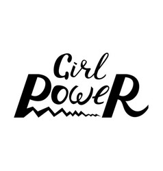 modern brush inscription girl power vector image
