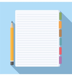 Notepad with Bookmarks vector image vector image
