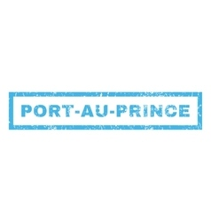 Port-au-prince rubber stamp vector
