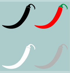 red black grey white pepper or paprika icon vector image vector image