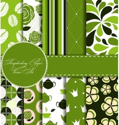 Set of Beautiful Paper for Scrapbook vector image vector image