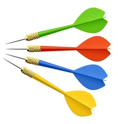 Set of darts vector